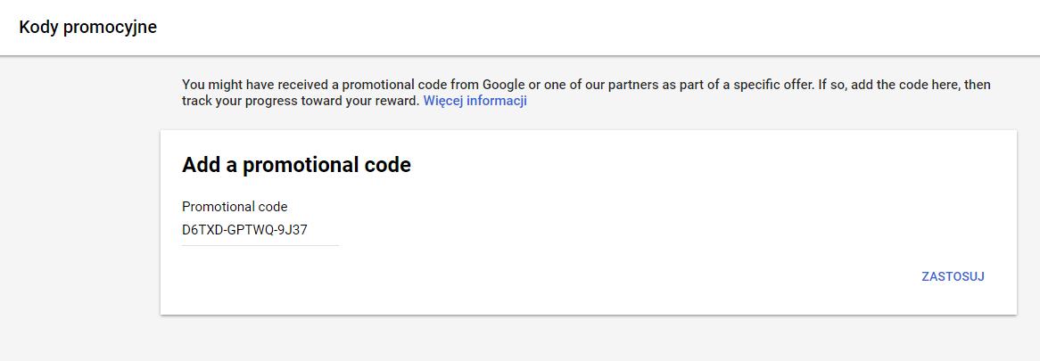 Dodanie kodu Google AdWords
