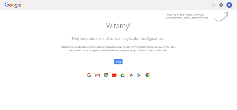Gotowe konto Google