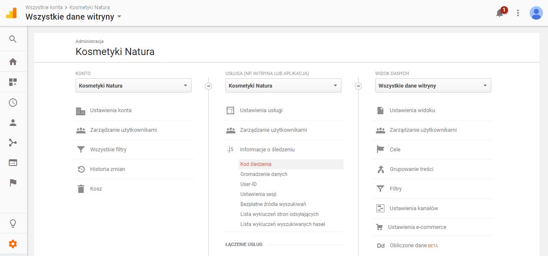Informacje o Å›ledzeniu w Google Analytics