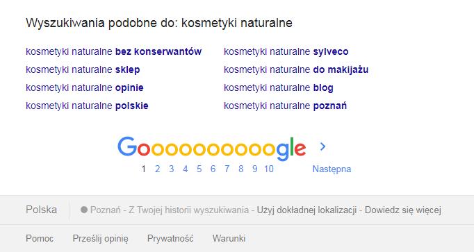 Lokalizacja w wynikach wyszukiwania Google