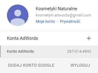 Numer ID konta Google Adwords