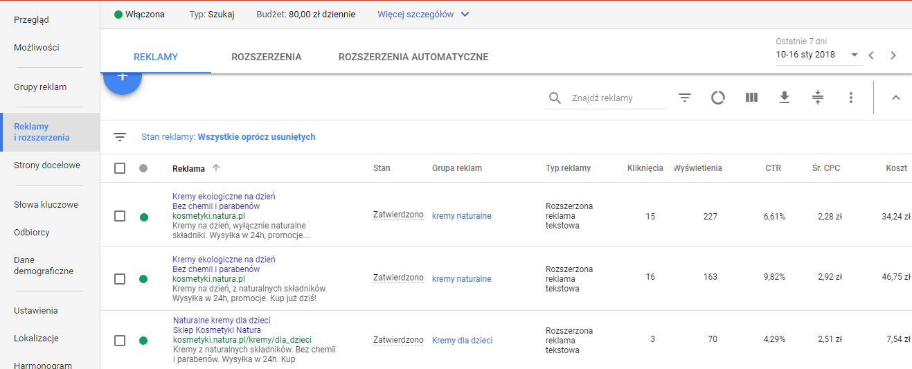 reklamy Google adwords