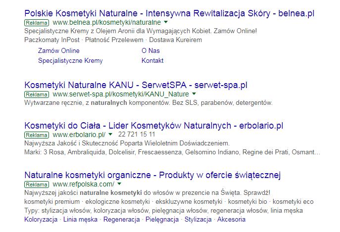 Rozszerzenia reklamy Google Adwords